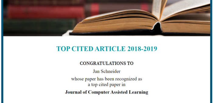 Top cited paper Award