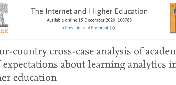 A four-country cross-case analysis of academic staff expectations about learning analytics in higher education