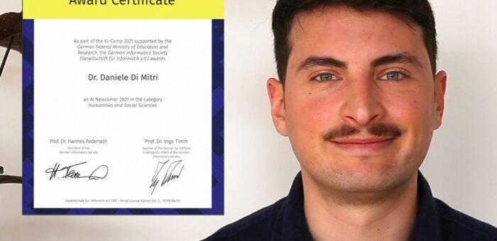 Dr Daniele Di Mitri elected AI Newcomer 2021