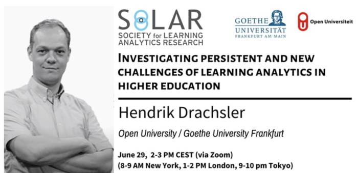 SoLAR webinar on: Investigating persistent and new challenges of learning analytics