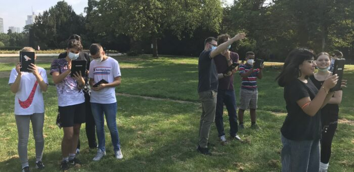 AR4STEAM Last phase of project in Frankfurt: Sunshine in the park and AR app testing
